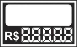 Etiqueta Mini  7,0 x 4,5 branco (caixa com 50)