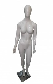 ManequIm feminino, bonita cara ovo, mão reta branco brilho (BASE OPCIONAL)