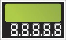 Etiqueta Micro caixa com 50 6,2 x 5,5 verde