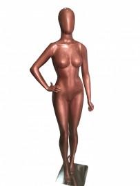 Manequim feminino Anita ,cara de avo, mão na cintura direita Rose Gold (BASE OPCINAL)