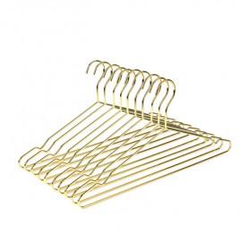 Cabide Com Cava Tintureiro Adulto Metal Dourado - 100 Peças