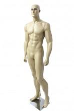 Manequim masculino bombado com face pele clara brilho (BASE OPCIONAL)