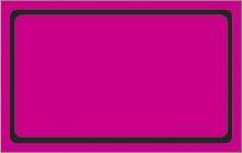 Etiqueta Mini lisa caixa com 50 6 x 4,8 rosa