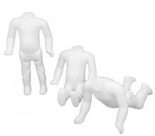 Manequim bebe articulado meio corpo (48 cm) branco