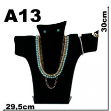 Expositor veludo bijuteria. Busto elegance grande 29,5 x 30 c