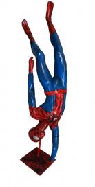 Manequim masculino  homem aranha cabeça para baixo (Base Opcional)