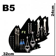 Expositor veludo bijuteria. Brinco folha 32 x 24 cm