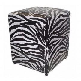 Puf quadrado zebra
