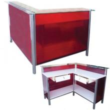 Balcão caixa l (1,20cm x 1,20cm duas gavetas)