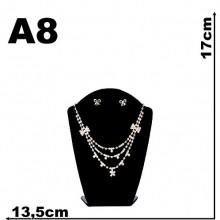 Expositor veludo bijuteria. Busto c pequeno 13,5 x 17,00 cm