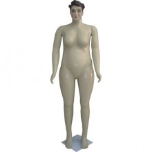 Manequim feminino em plástico reto gorda 54