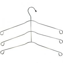 Cabide para camisa triplo cromado 36 cm