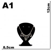 Expositor veludo bijuteria Coração mini 8,5 cm x 12 cm