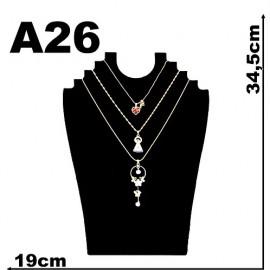 Expositor veludo bijuteria. Busto angelical médio 19 x 34,5