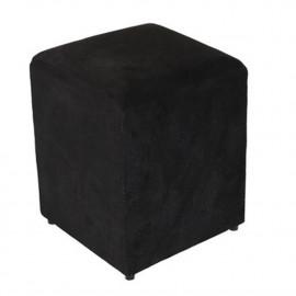 Puf quadrado preto