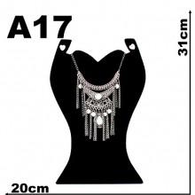 Expositor veludo bijuteria. Busto.fashion 20 x 31 cm