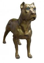 Cachorro pitbull de fibra