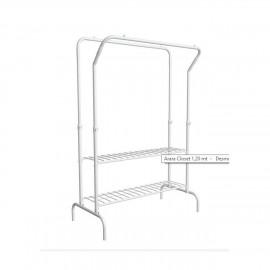 Arara closet 1,20 m branco desmontável