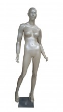 Manequim feminino fitness com face mão reta perola (SEM BASE)