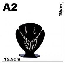 Expositor veludo bijuteria Coração pequeno 15,5 x 19 cm