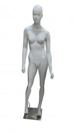 Manequim Feminino Carol com face mão reta branco brilho (BASE OPCIONAL)