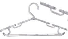 Kit com 10 cabides cavado aberto transparente