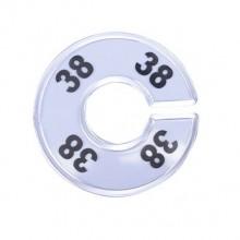 Numerador de araras 38 acrilico