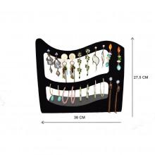Expositor veludo bijuteria. Brinco argola 30 x 27,5