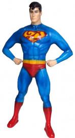 Manequim masculino Super Homem m pé (Base Opcional)