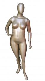 Manequim feminino Julia cara de ovo pose mão na cintura direta Jupter (BASE OPCIONAL)