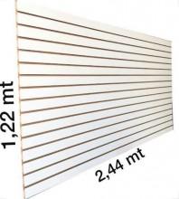 Painel canaletado 1,22 x 2,44 branco