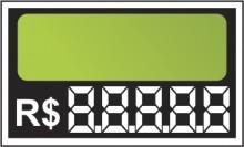 Etiqueta Mini caixa com 50 7,0 x 4,5 verde