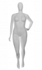Manequim Feminino plástico GG pose adulto Branco