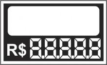 Etiqueta Micro caixa com 50 6,2 x 5,5 branco