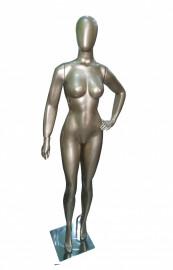 Manequim feminino Anita, cara de ovo, Jupter mão na cintura esquerda (BASE OPCIONAL)