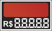 Etiqueta Mini 7,0 x 4,5 laranja (caixa com 50)