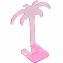 Expositor de brinco acrílico coqueiro rosa pink