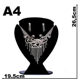Expositor veludo bijuteria. Coração grande 19,5 x 26,5 cm