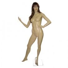 Manequim feminino em fibra mão na cintura