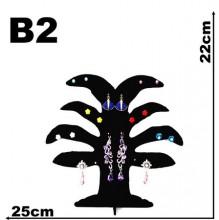 Expositor veludo bijuteria. Brinco arvore pequeno 25 x 22 cm