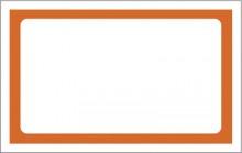 Etiqueta Mini oferta lisa laranja pacote 50 peças 8,9 x