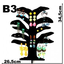 Expositor veludo bijuteria. Brinco arvore grande 26,5 x 34,5