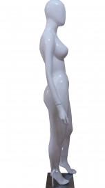 Manequim Fibra Claudia Leite cara ovo mão reta branco branco (SEM BASE)