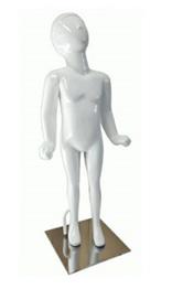 Manequim unisex plástico alegria reto branco (SEM BASE)