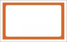Etiqueta Micro micro lisa c/50 4x20 laranja