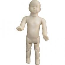 Manequim em plástico articulado sem cabeça  infantil reto