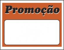 Etiqueta Mini promoção 8,9 x 6,2 laranja (caixa com 50)