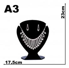 Expositor veludo bijuteria Coração médio 17,5 x 23 cm