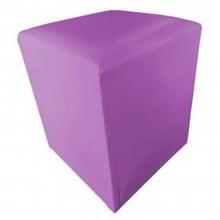 Puf quadrado roxo