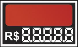 Etiqueta Micro 6,2 x 5,5 laranja (CAIXA COM 50 )